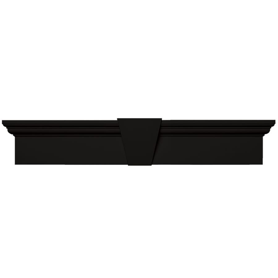 Vantage 37.375-in x 8.875-in Black Vinyl Window Header