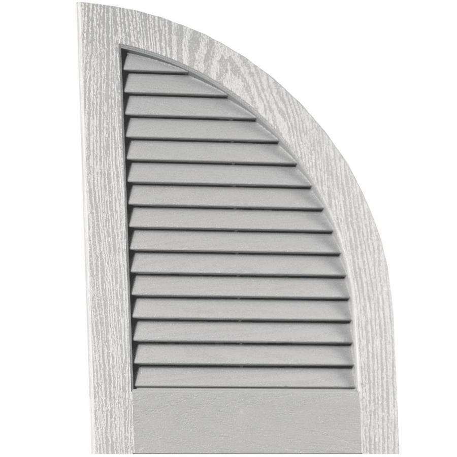 Vantage 2-Pack Paintable Louvered Vinyl Exterior Shutters (Common: 14-in x 20-in; Actual: 14-in x 20.3125-in)