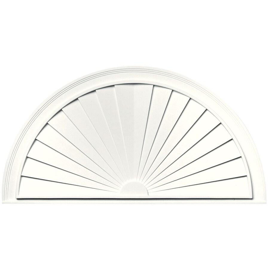 Vantage 43-5/16-in x 22-5/8-in White Vinyl Window Sunburst