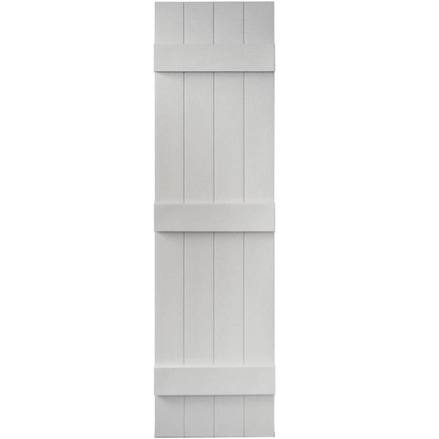 Vantage 2-Pack Paintable Board and Batten Vinyl Exterior Shutters (Common: 14-in x 55-in; Actual: 14.0312-in x 54.875-in)