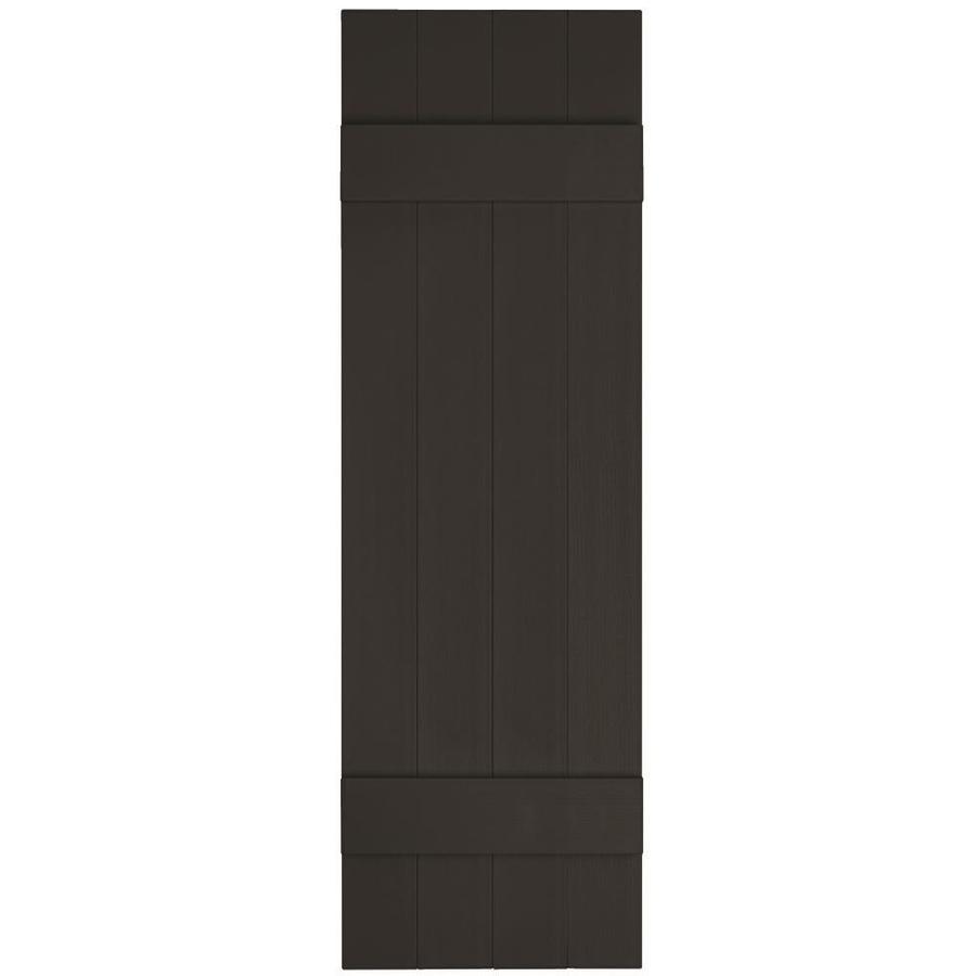 Vantage 2-Pack Black Board and Batten Vinyl Exterior Shutters (Common: 14-in x 59-in; Actual: 13.875-in x 58.5-in)