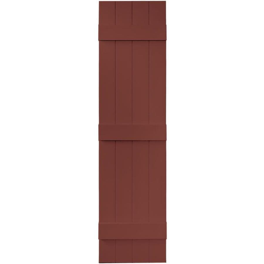 Vantage 2-Pack Cambridge Red Board and Batten Vinyl Exterior Shutters (Common: 14-in x 59-in; Actual: 13.875-in x 58.5-in)
