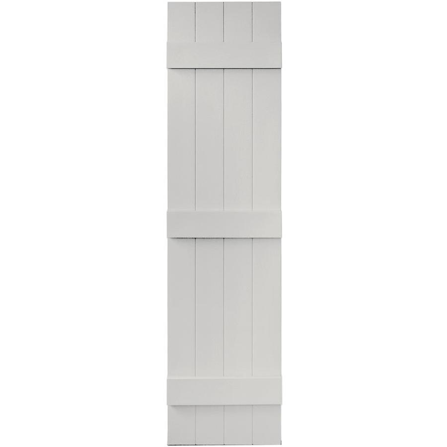 Vantage 2-Pack Paintable Board and Batten Vinyl Exterior Shutters (Common: 14-in x 59-in; Actual: 14.0312-in x 59.1875-in)