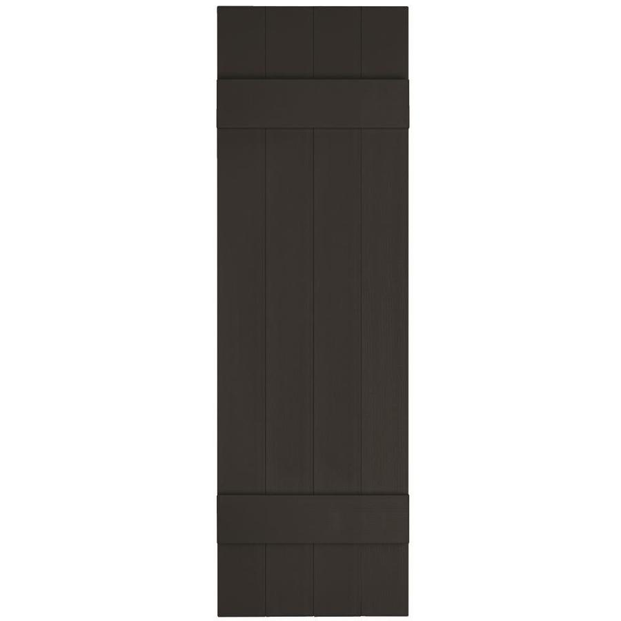 Vantage 2-Pack Black Board and Batten Vinyl Exterior Shutters (Common: 14-in x 71-in; Actual: 13.875-in x 70.5-in)