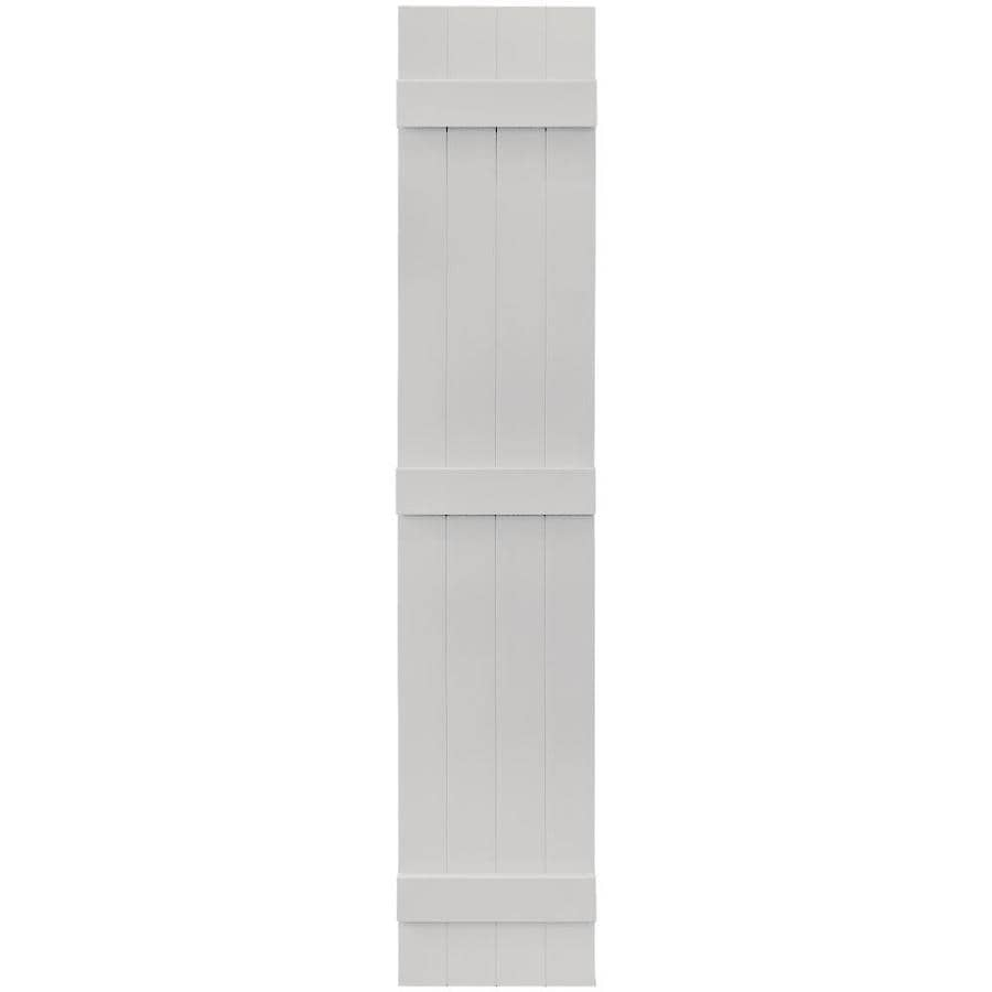 Vantage 2-Pack Paintable Board and Batten Vinyl Exterior Shutters (Common: 14-in x 75-in; Actual: 14.0312-in x 74.875-in)
