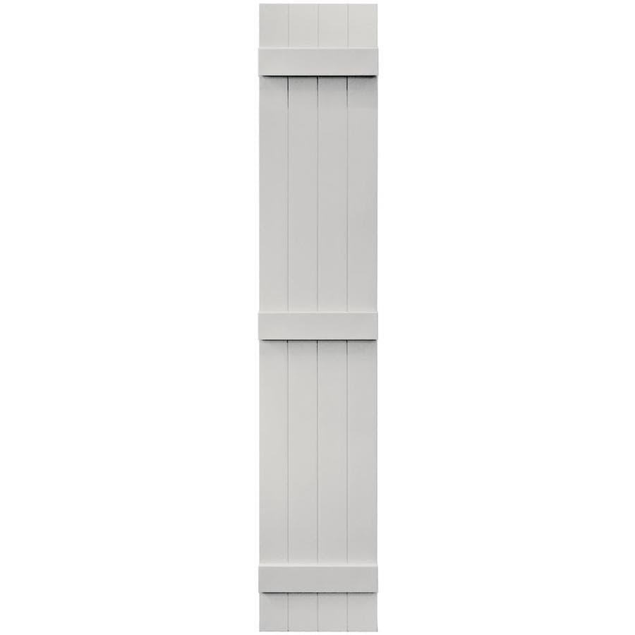 Vantage 2-Pack Paintable Board and Batten Vinyl Exterior Shutters (Common: 14-in x 80-in; Actual: 14.0312-in x 79.875-in)