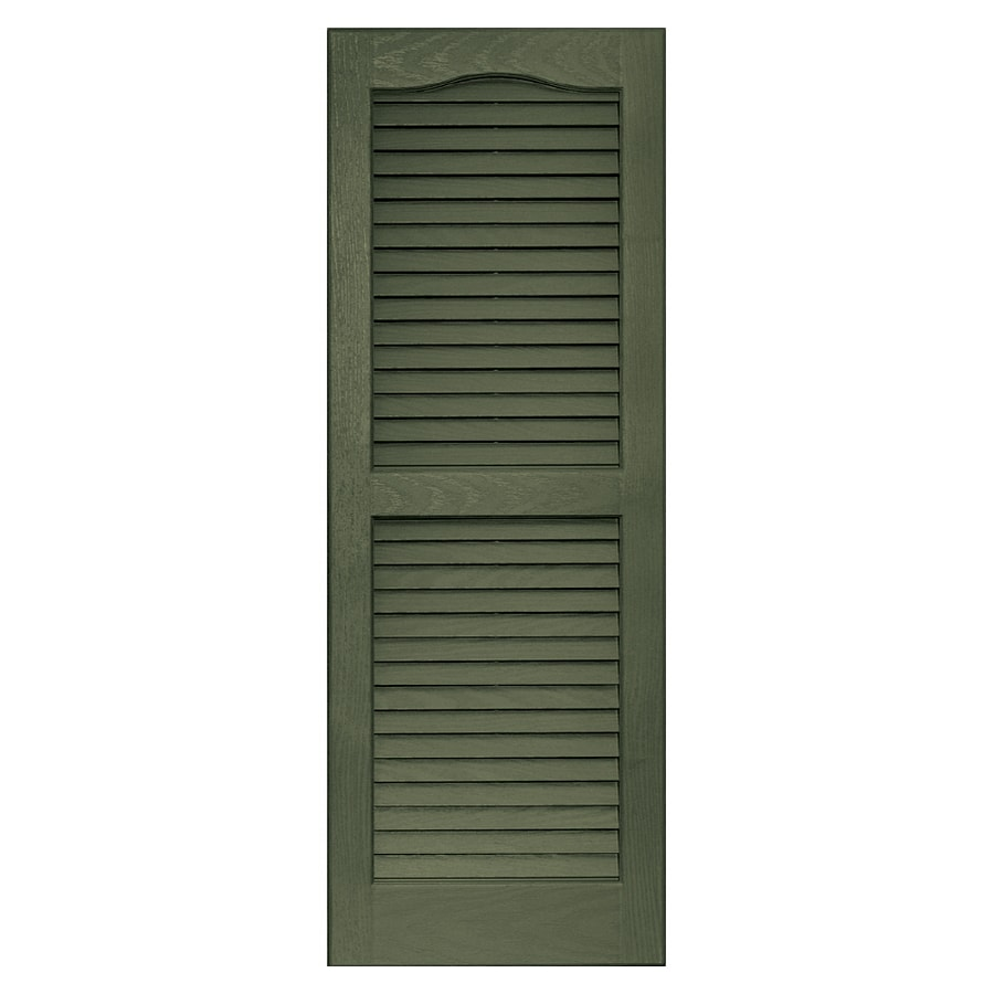 Vantage 2-Pack Colonial Green Louvered Vinyl Exterior Shutters (Common: 39-in x 14-in; Actual: 38.68-in x 13.875-in)