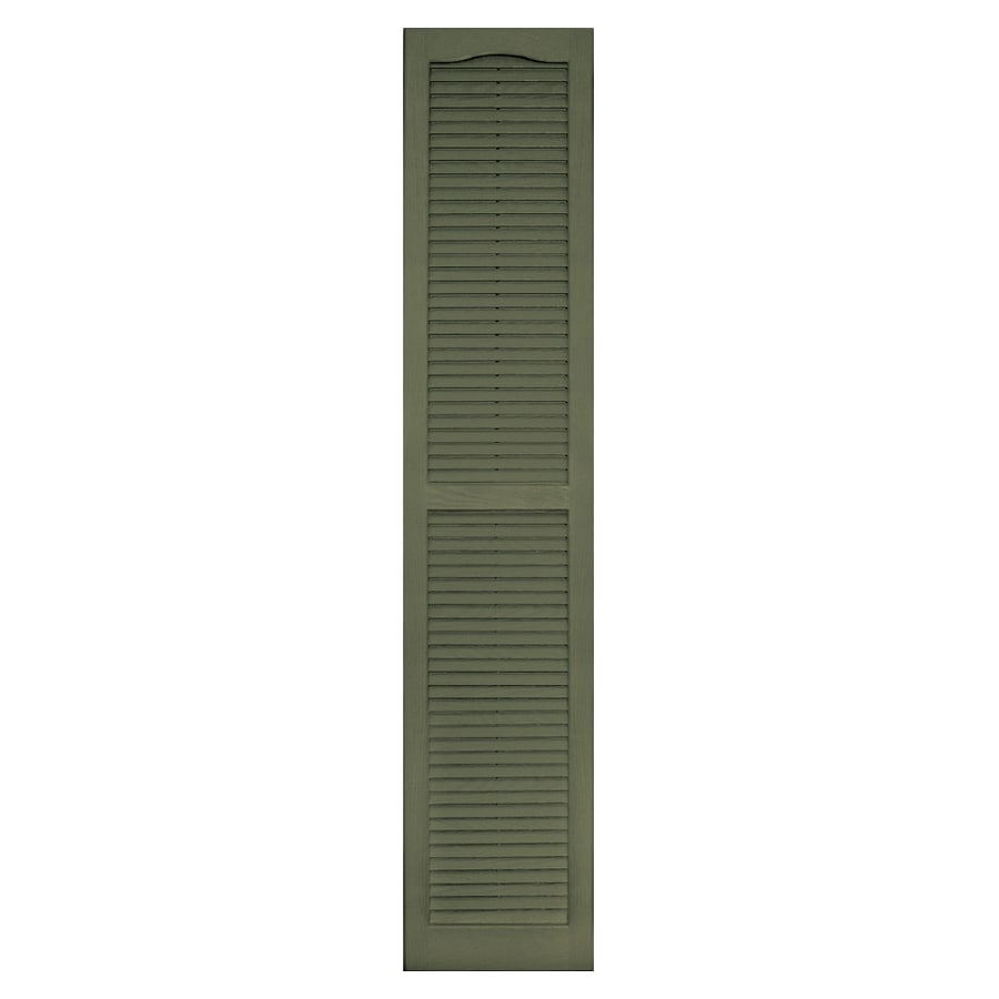 Vantage 2-Pack Colonial Green Louvered Vinyl Exterior Shutters (Common: 71-in x 14-in; Actual: 70.625-in x 13.875-in)