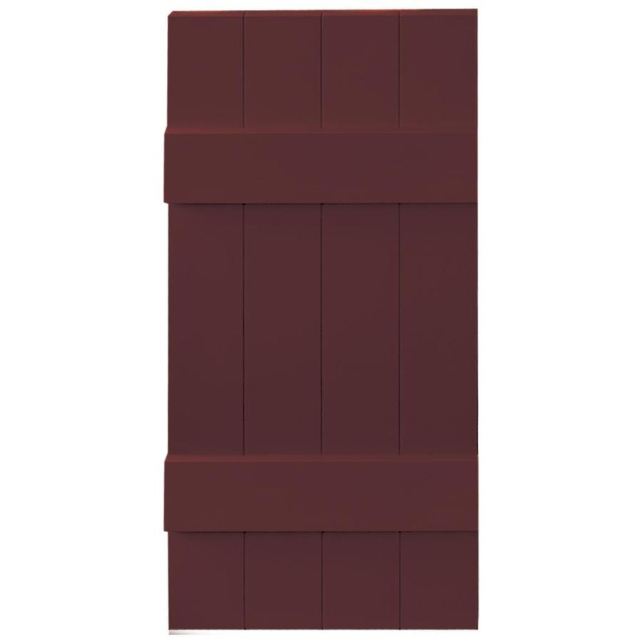 Vantage 2-Pack Cranberry Board and Batten Vinyl Exterior Shutters (Common: 14-in x 31-in; Actual: 13.875-in x 30.875-in)