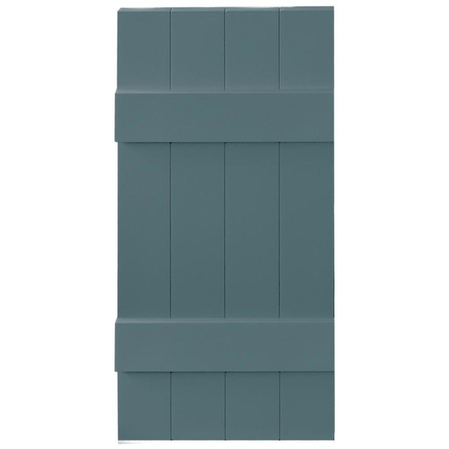 Vantage 2-Pack Wedgewood Blue Board and Batten Vinyl Exterior Shutters (Common: 14-in x 31-in; Actual: 13.875-in x 30.875-in)