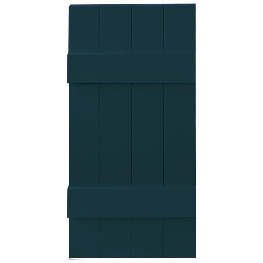 Vantage 2-Pack Indigo Blue Board and Batten Vinyl Exterior Shutters (Common: 14-in x 31-in; Actual: 13.875-in x 30.875-in)