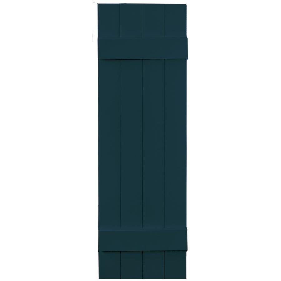 Vantage 2-Pack Indigo Blue Board and Batten Vinyl Exterior Shutters (Common: 14-in x 47-in; Actual: 13.875-in x 46.875-in)