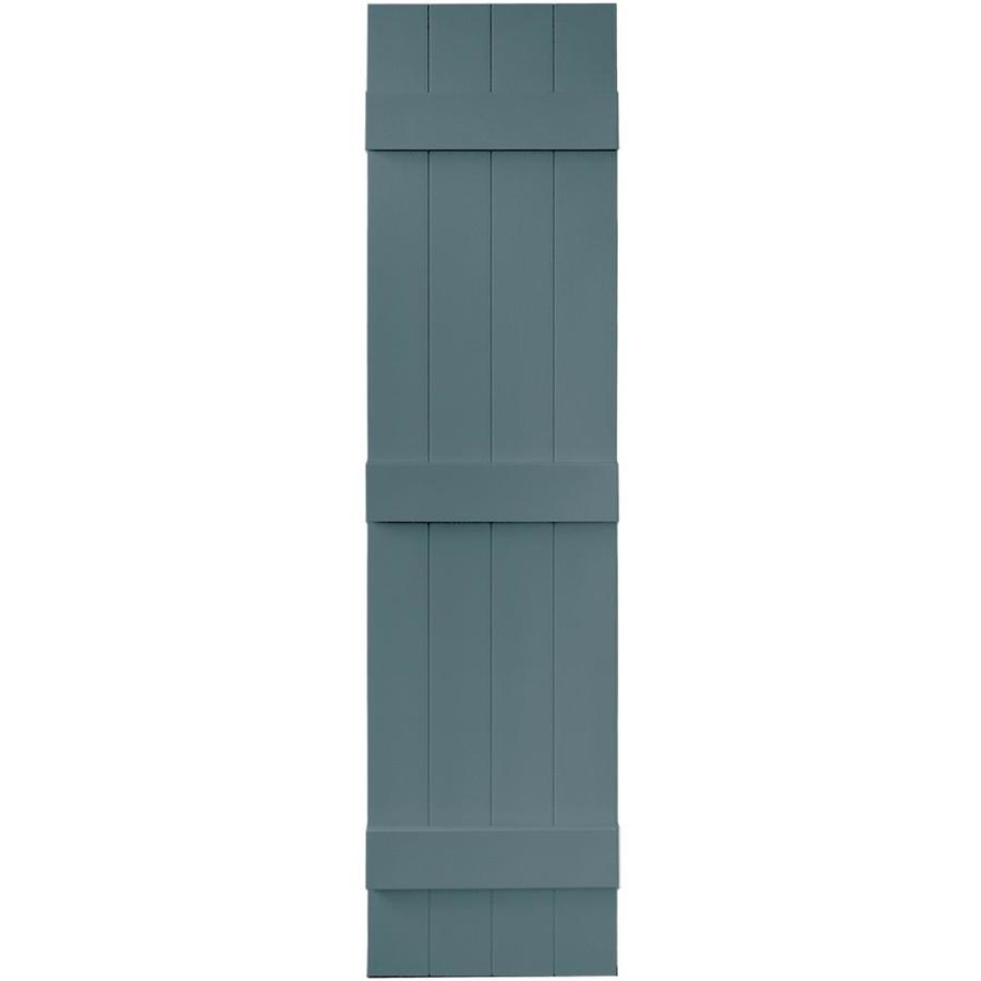 Vantage 2-Pack Wedgewood Blue Board and Batten Vinyl Exterior Shutters (Common: 14-in x 59-in; Actual: 13.875-in x 58.5-in)