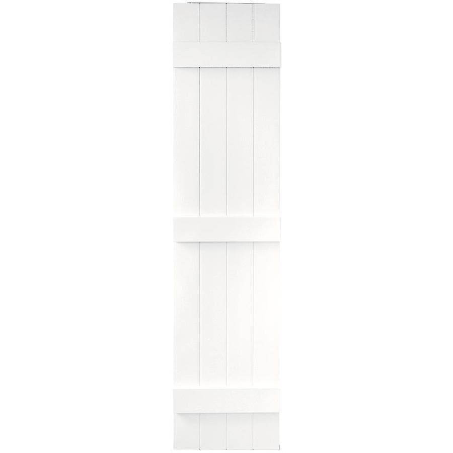 Vantage 2-Pack White Board and Batten Vinyl Exterior Shutters (Common: 14-in x 63-in; Actual: 13.875-in x 62.5-in)