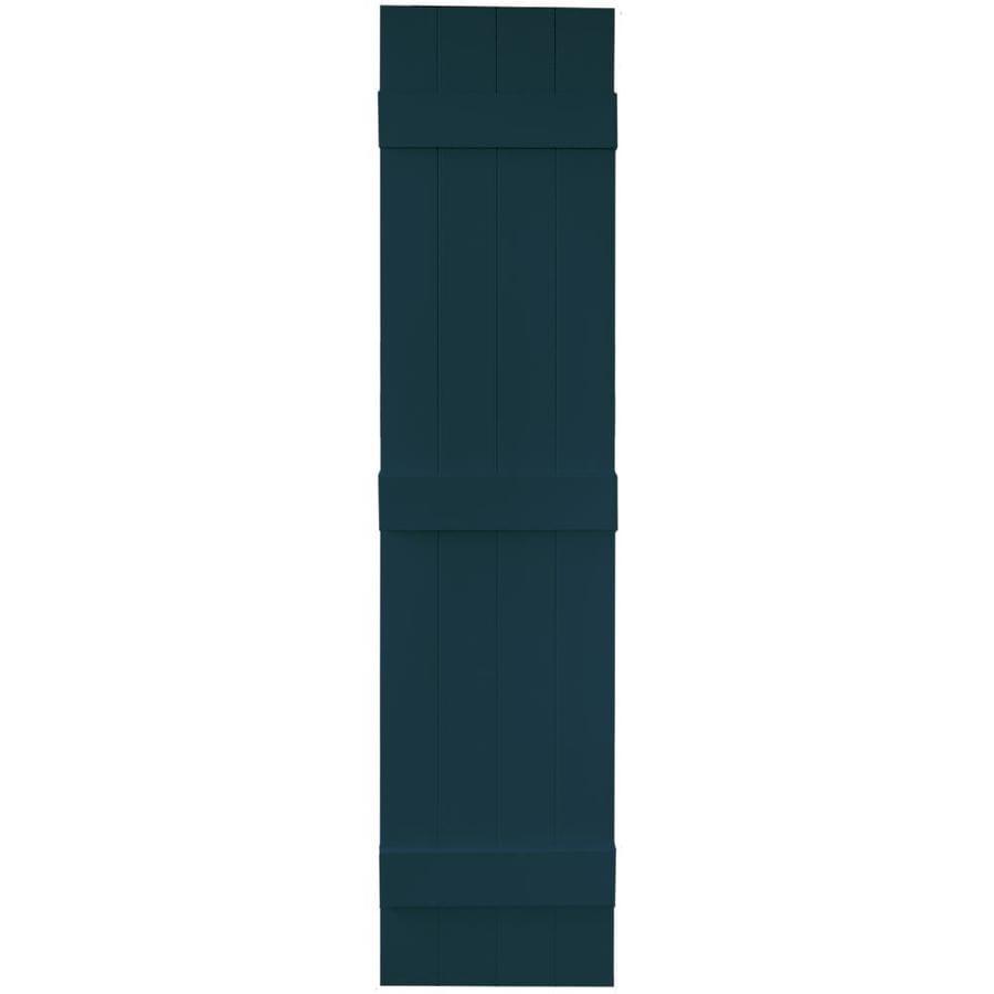 Vantage 2-Pack Indigo Blue Board and Batten Vinyl Exterior Shutters (Common: 14-in x 63-in; Actual: 13.875-in x 62.5-in)