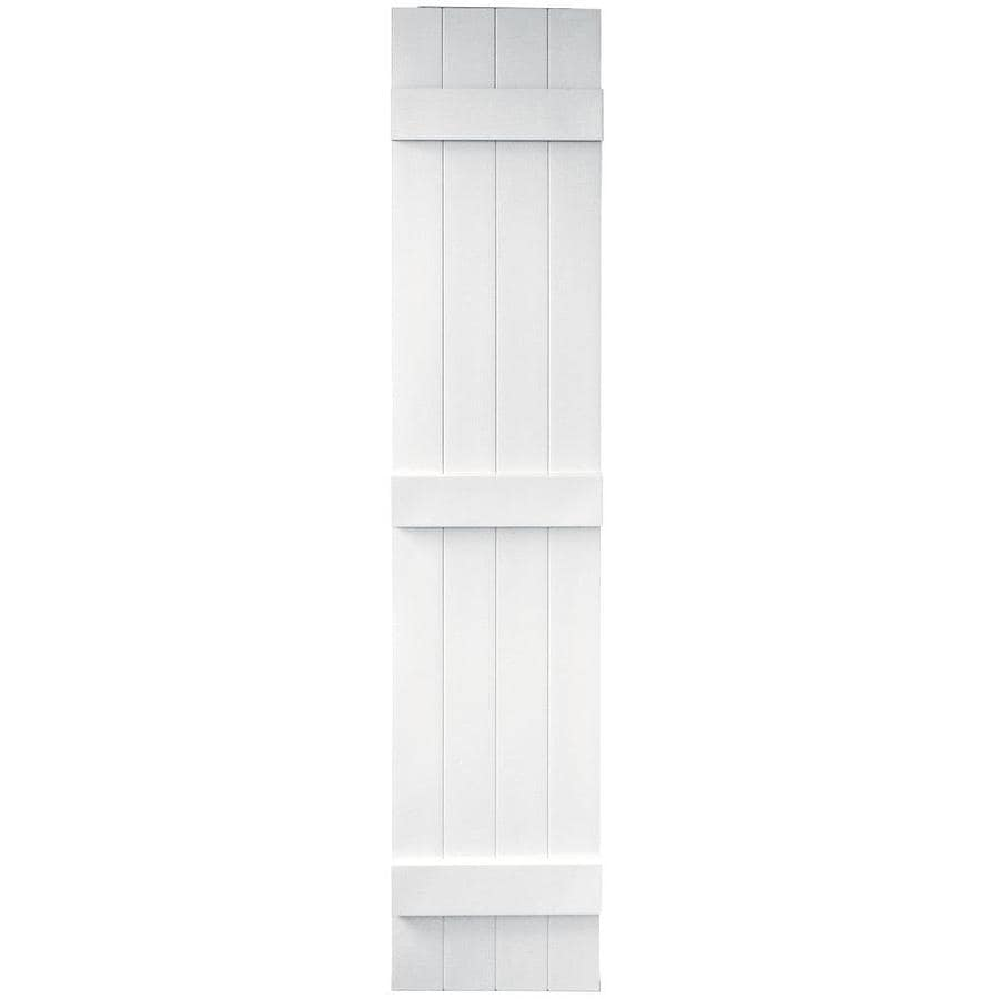 Shop Vantage 2 Pack White Board And Batten Vinyl Exterior Shutters Common 14 In X 67 In