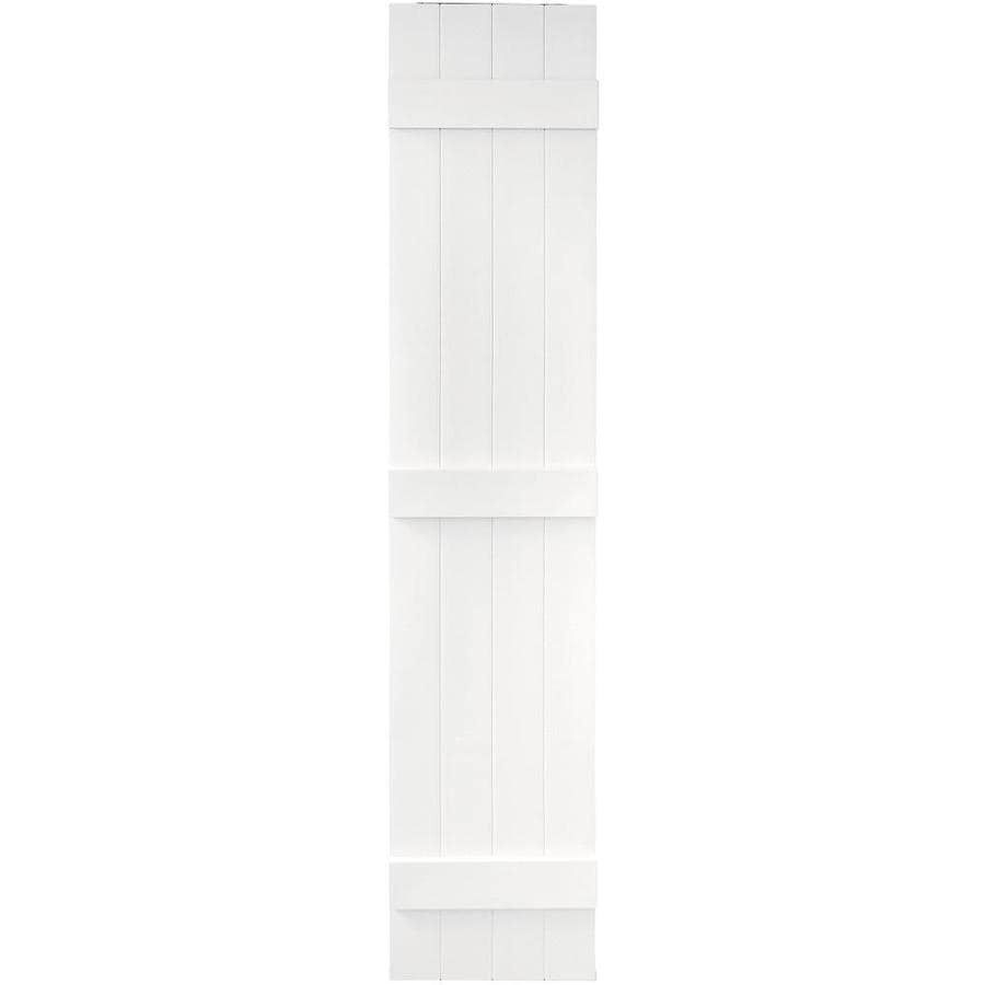 Vantage 2-Pack White Board and Batten Vinyl Exterior Shutters (Common: 14-in x 71-in; Actual: 13.875-in x 70.5-in)