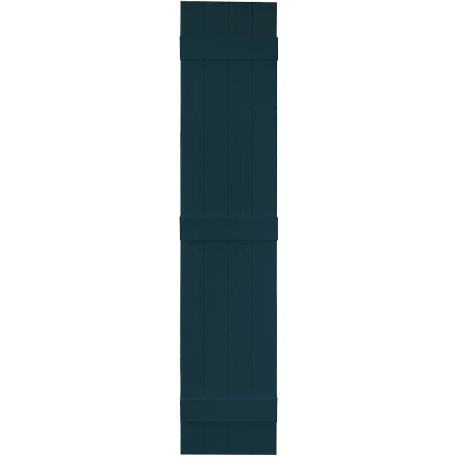 Vantage 2-Pack Indigo Blue Board and Batten Vinyl Exterior Shutters (Common: 14-in x 71-in; Actual: 13.875-in x 70.5-in)