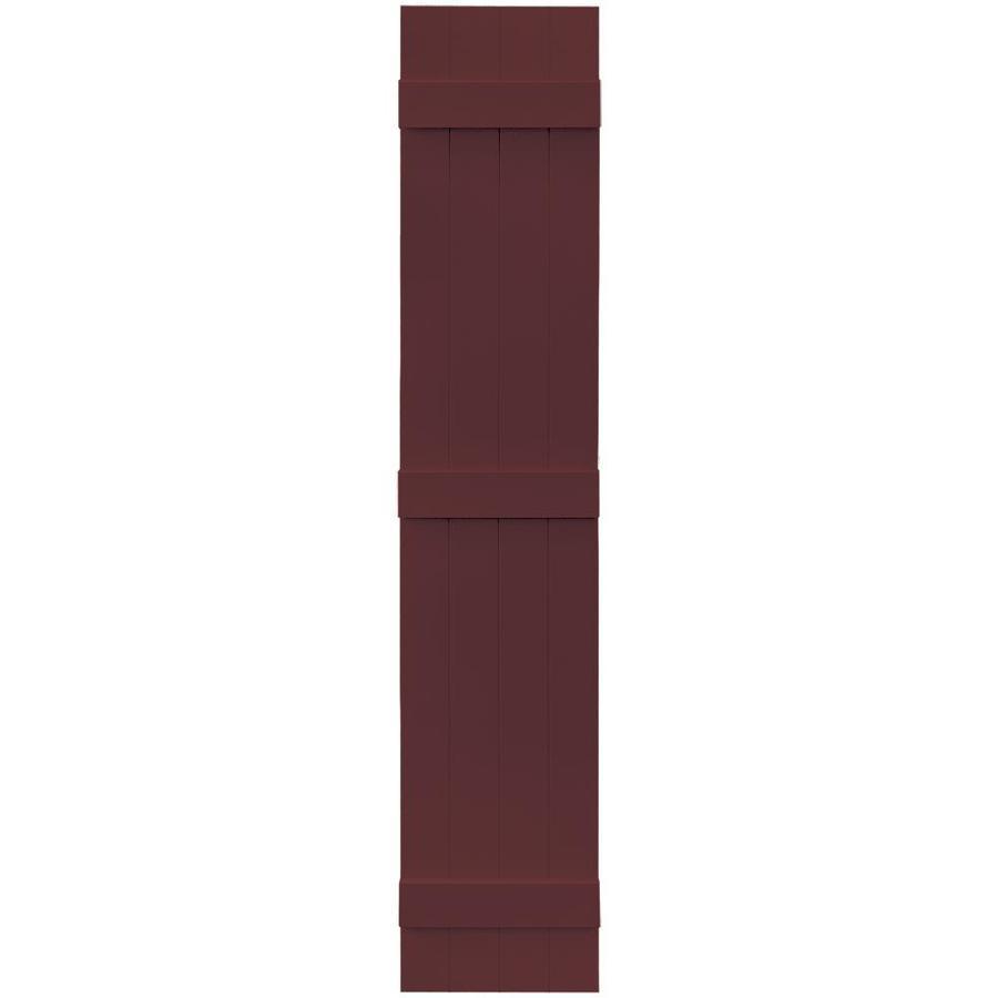 Vantage 2-Pack Cranberry Board and Batten Vinyl Exterior Shutters (Common: 14-in x 75-in; Actual: 13.875-in x 74.875-in)