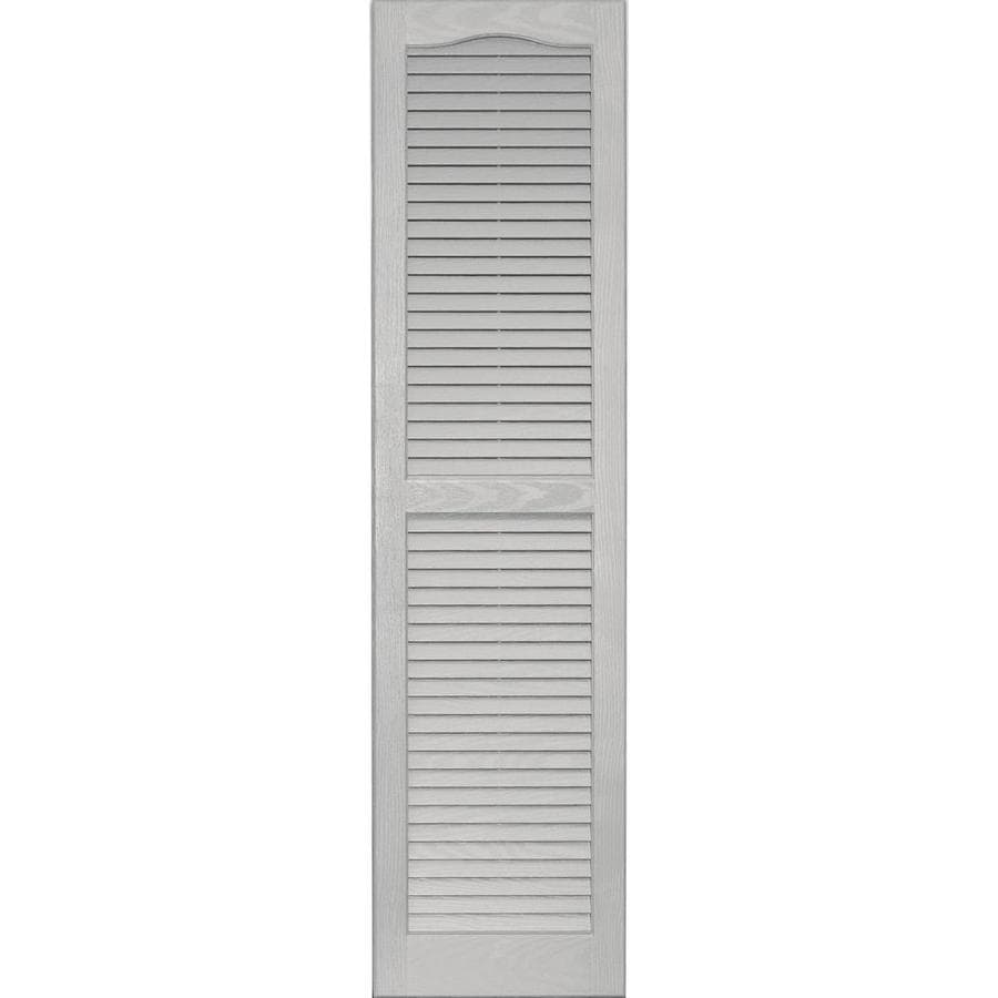 Shop Vantage 2 Pack Paintable Louvered Vinyl Exterior Shutters Common 14 In X 55 In Actual