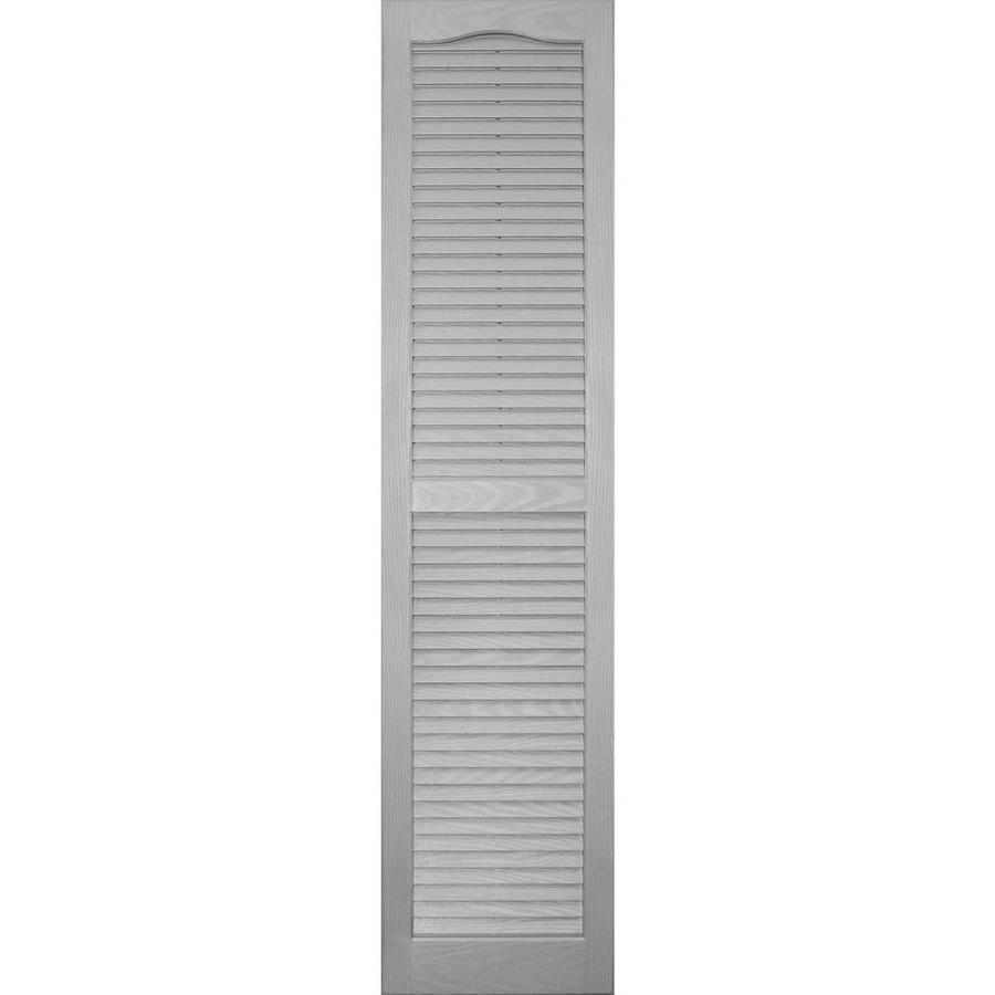 Vantage 2-Pack Paintable Louvered Vinyl Exterior Shutters (Common: 14-in x 59-in; Actual: 14.0312-in x 59.0312-in)