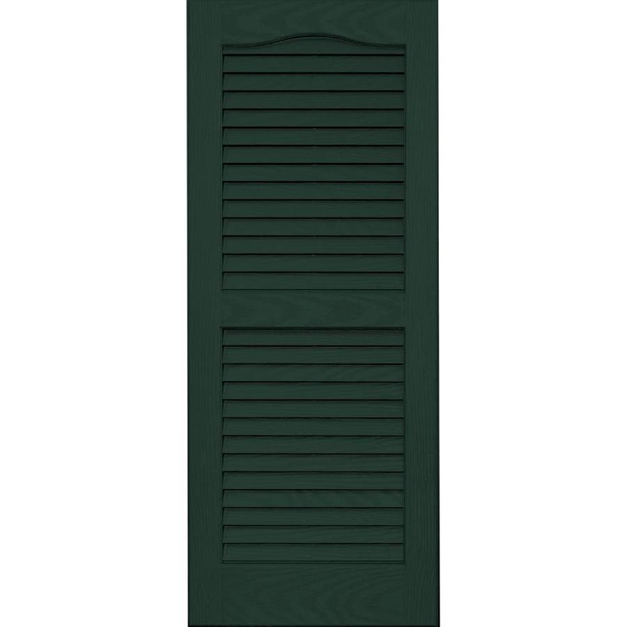 Vantage 2-Pack Midnight Green Louvered Vinyl Exterior Shutters (Common: 14-in x 35-in; Actual: 13.875-in x 34.6875-in)