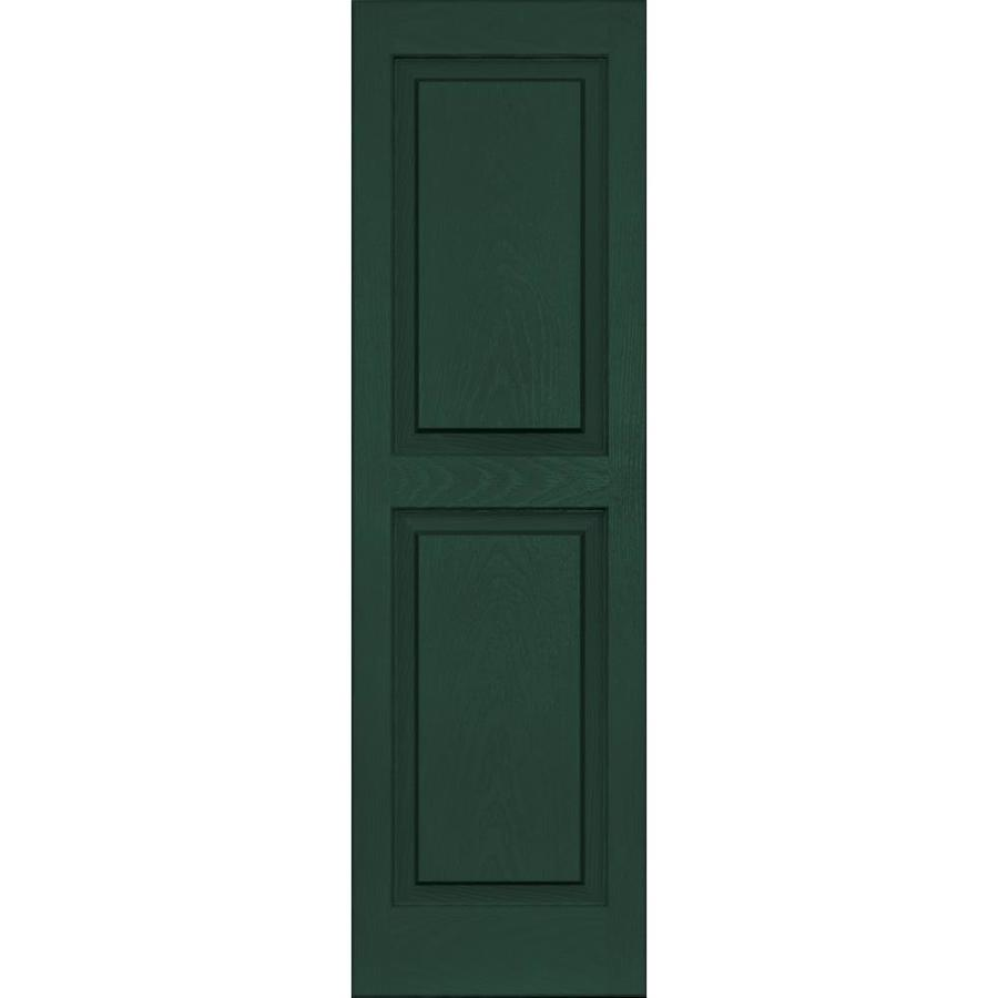 Vantage 2-Pack Midnight Green Raised Panel Vinyl Exterior Shutters (Common: 14-in x 47-in; Actual: 13.875-in x 46.625-in)