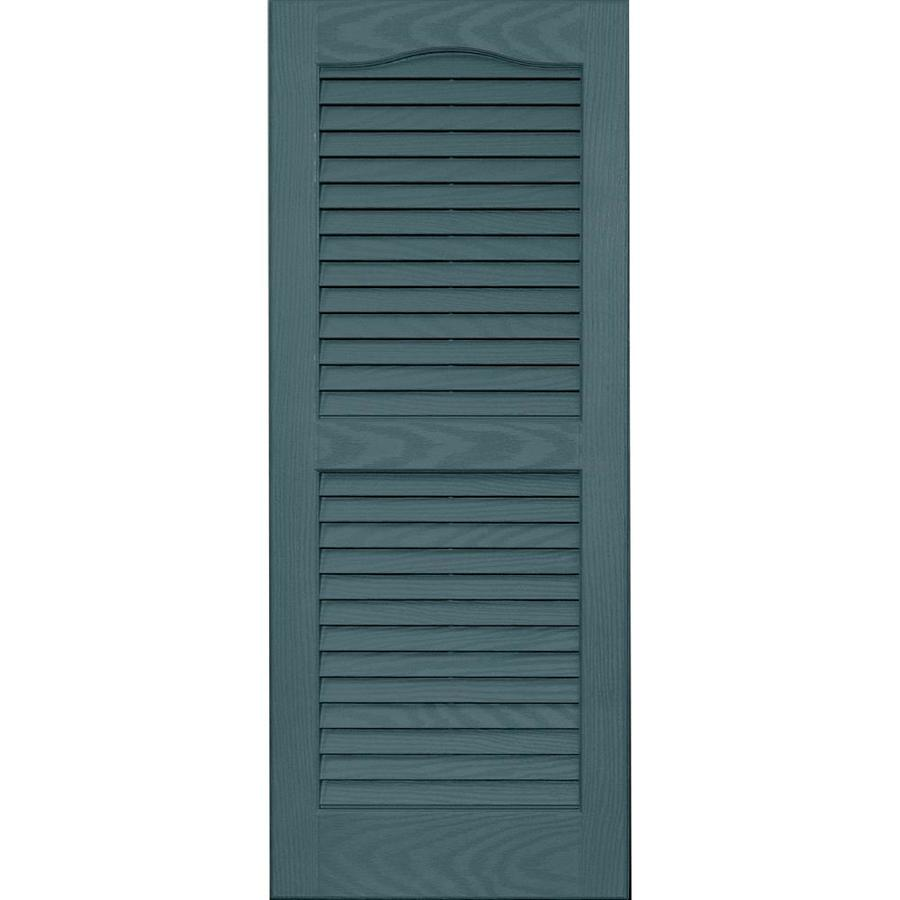 Shop Vantage 2 Pack Wedgewood Blue Louvered Vinyl Exterior Shutters Common