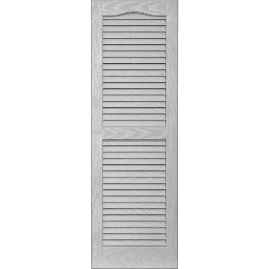 Vantage 2-Pack Paintable Louvered Vinyl Exterior Shutters (Common: 14-in x 43-in; Actual: 14.0625-in x 43.125-in)