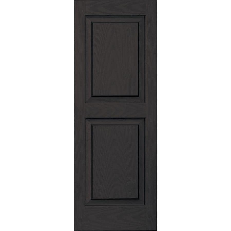 Vantage 2-Pack Chocolate Brown Raised Panel Vinyl Exterior Shutters (Common: 14-in x 39-in; Actual: 13.875-in x 38.625-in)