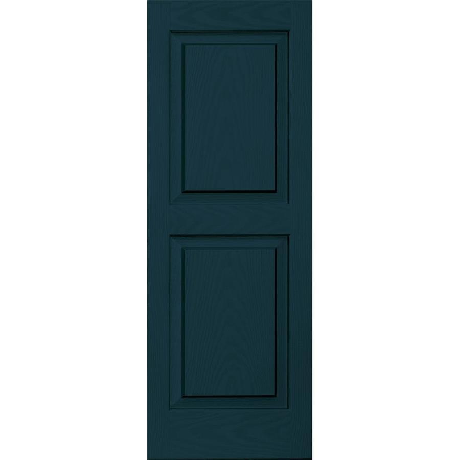 Vantage 2-Pack Indigo Blue Raised Panel Vinyl Exterior Shutters (Common: 14-in x 39-in; Actual: 13.875-in x 38.625-in)