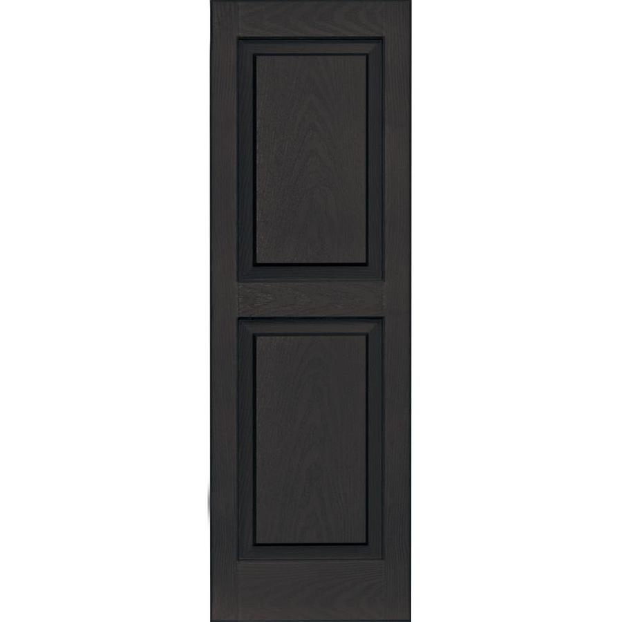Vantage 2-Pack Chocolate Brown Raised Panel Vinyl Exterior Shutters (Common: 14-in x 43-in; Actual: 13.875-in x 42.625-in)