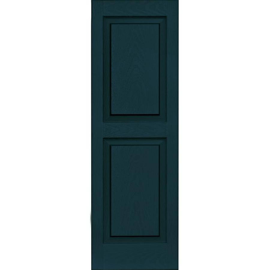 Vantage 2-Pack Indigo Blue Raised Panel Vinyl Exterior Shutters (Common: 14-in x 43-in; Actual: 13.875-in x 42.625-in)