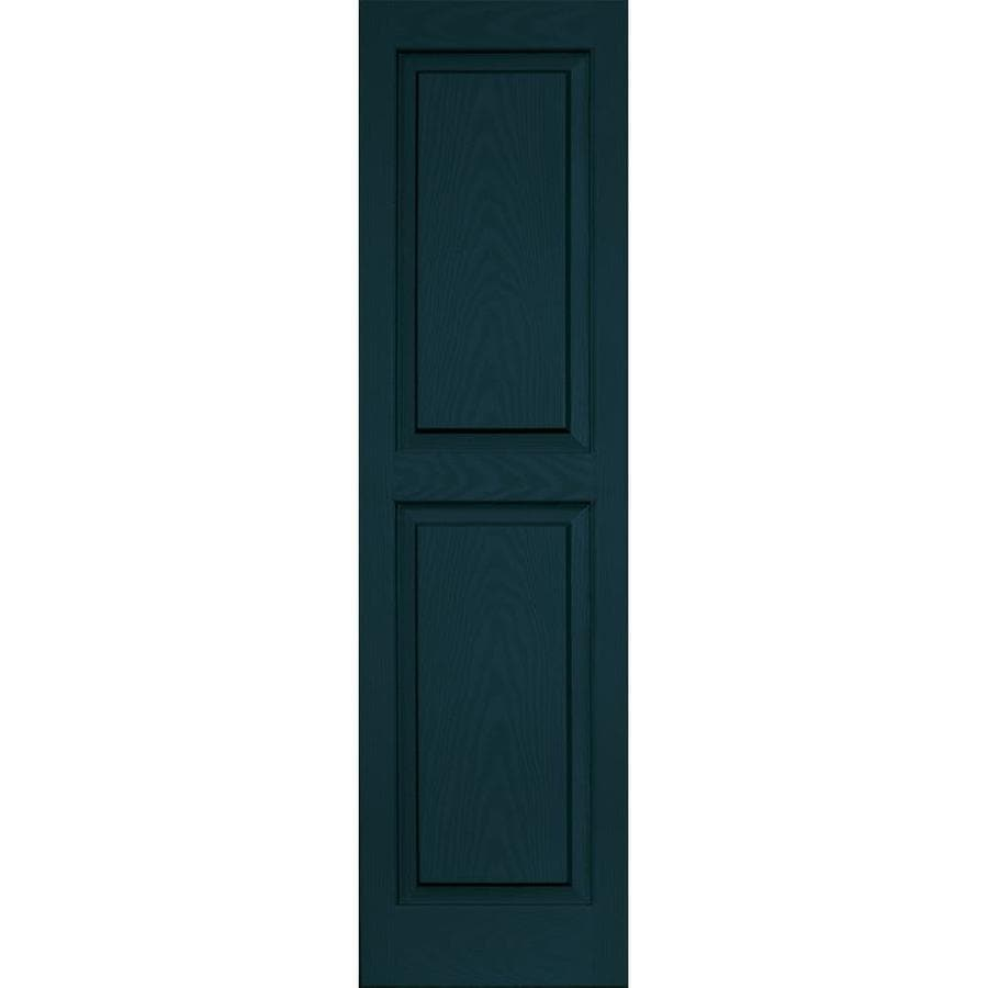 Vantage 2-Pack Indigo Blue Raised Panel Vinyl Exterior Shutters (Common: 14-in x 51-in; Actual: 13.875-in x 50.625-in)