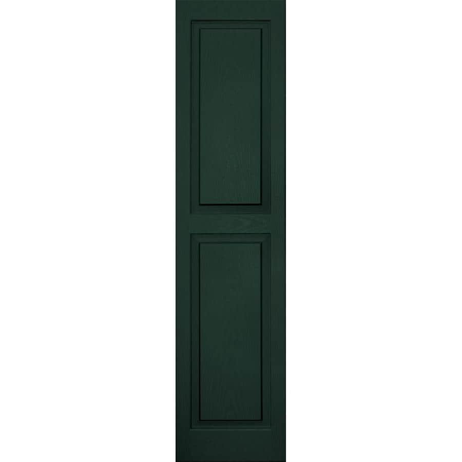 Vantage 2-Pack Midnight Green Raised Panel Vinyl Exterior Shutters (Common: 14-in x 59-in; Actual: 13.875-in x 58.5-in)
