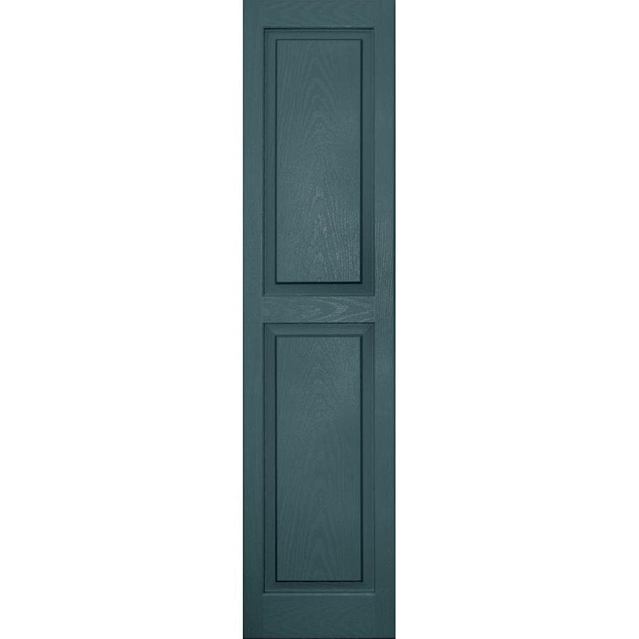Vantage 2-Pack Wedgewood Blue Raised Panel Vinyl Exterior Shutters (Common: 14-in x 59-in; Actual: 13.875-in x 58.5-in)