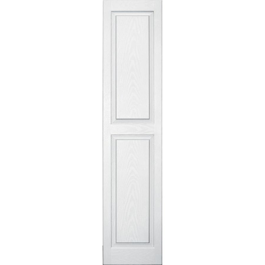 Vantage 2-Pack White Raised Panel Vinyl Exterior Shutters (Common: 14-in x 63-in; Actual: 13.875-in x 62.5625-in)