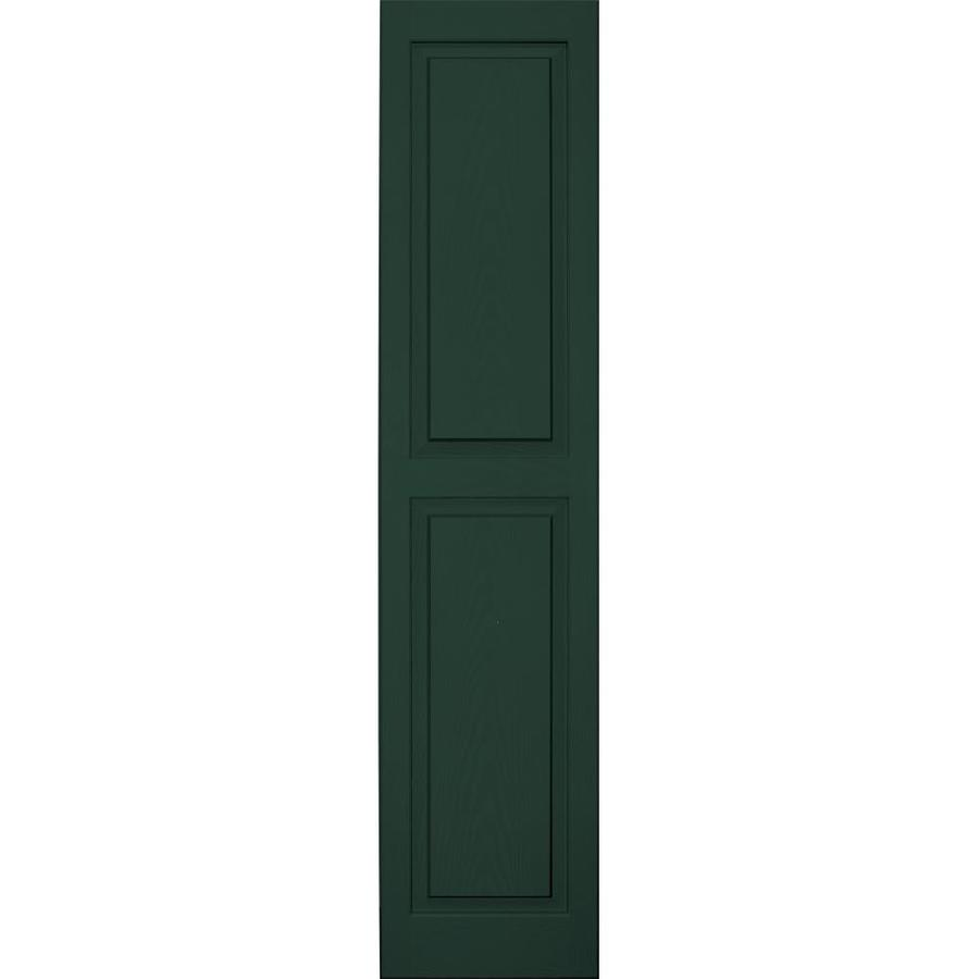 Vantage 2-Pack Midnight Green Raised Panel Vinyl Exterior Shutters (Common: 14-in x 63-in; Actual: 13.875-in x 62.5625-in)