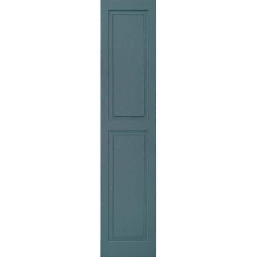 Vantage 2-Pack Wedgewood Blue Raised Panel Vinyl Exterior Shutters (Common: 14-in x 67-in; Actual: 13.875-in x 66.5625-in)