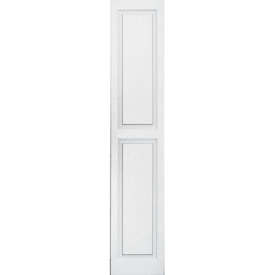 Vantage 2-Pack White Raised Panel Vinyl Exterior Shutters (Common: 14-in x 71-in; Actual: 13.875-in x 70.5-in)
