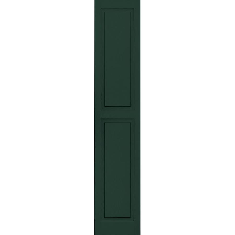 Vantage 2-Pack Midnight Green Raised Panel Vinyl Exterior Shutters (Common: 14-in x 71-in; Actual: 13.875-in x 70.5-in)