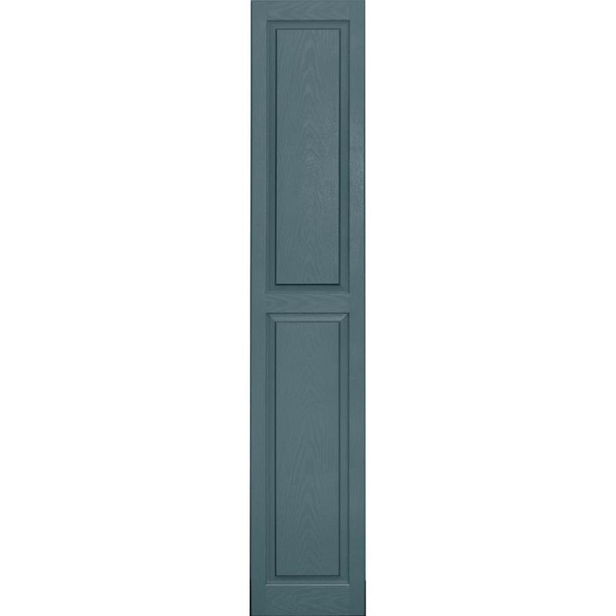 Vantage 2-Pack Wedgewood Blue Raised Panel Vinyl Exterior Shutters (Common: 14-in x 80-in; Actual: 13.875-in x 79.5-in)