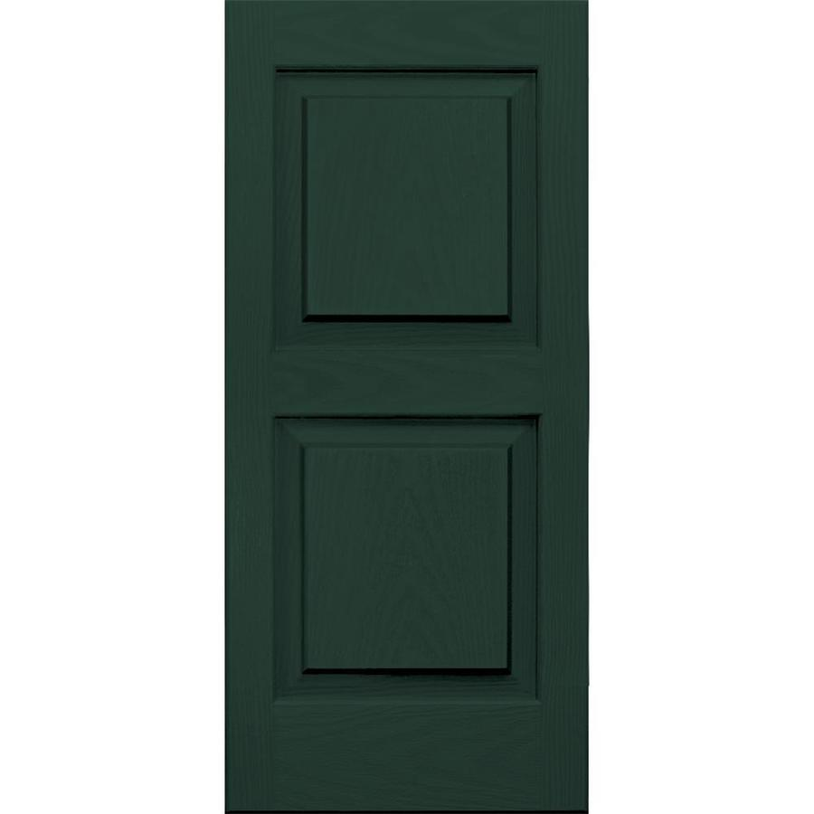 Vantage 2-Pack Midnight Green Raised Panel Vinyl Exterior Shutters (Common: 14-in x 31-in; Actual: 13.875-in x 30.625-in)