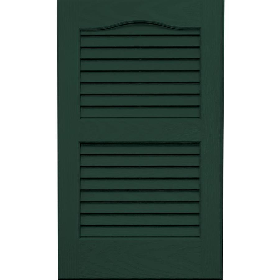 Vantage 2-Pack Midnight Green Louvered Vinyl Exterior Shutters (Common: 14-in x 24-in; Actual: 13.875-in x 23.6875-in)