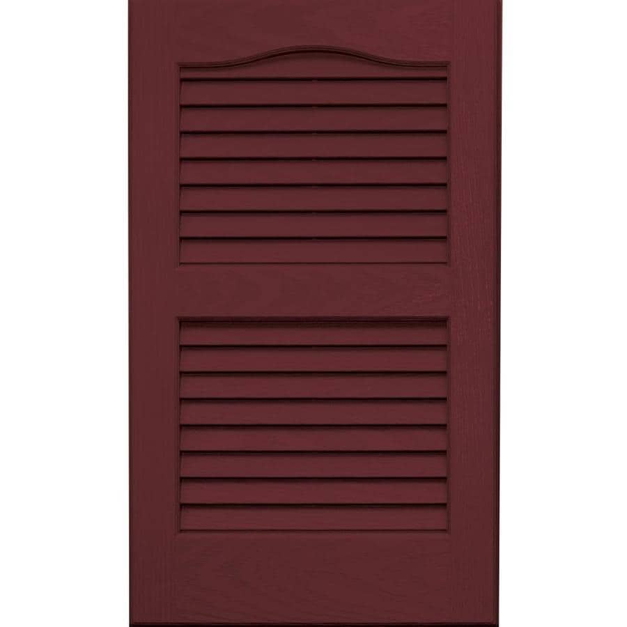 Vantage 2-Pack Cranberry Louvered Vinyl Exterior Shutters (Common: 14-in x 24-in; Actual: 13.875-in x 23.6875-in)