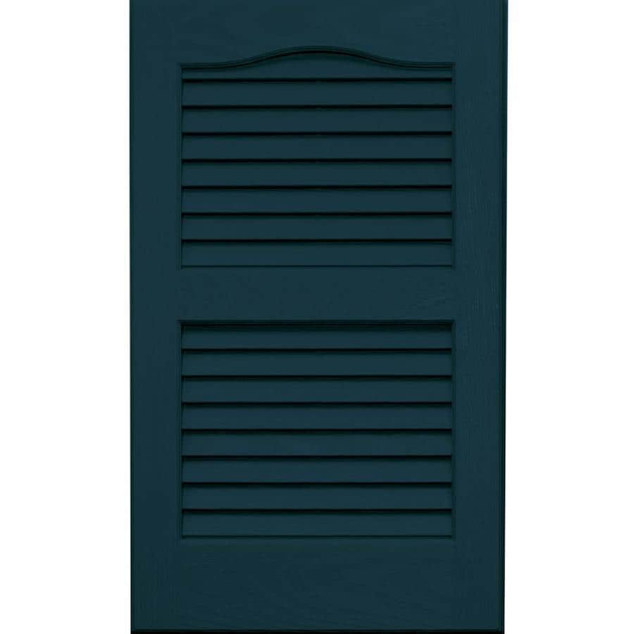 Vantage 2-Pack Indigo Blue Louvered Vinyl Exterior Shutters (Common: 14-in x 24-in; Actual: 13.875-in x 23.6875-in)
