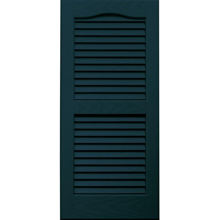 Vantage 2-Pack Indigo Blue Louvered Vinyl Exterior Shutters (Common: 14-in x 31-in; Actual: 13.875-in x 30.6875-in)