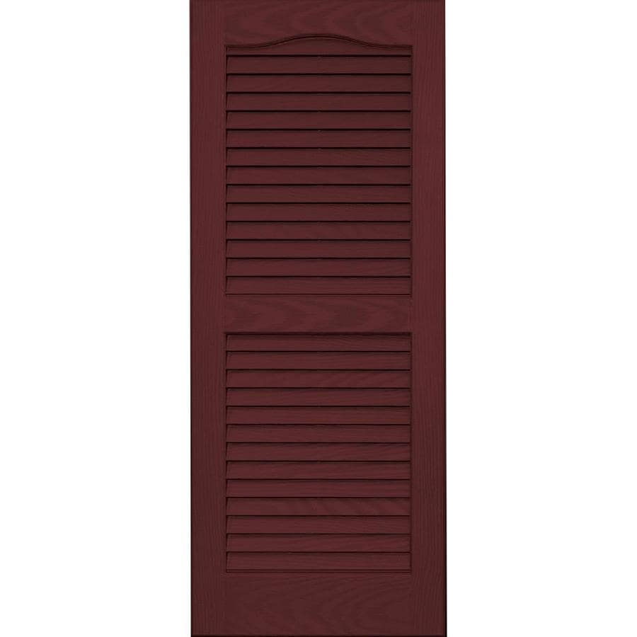Vantage 2-Pack Cranberry Louvered Vinyl Exterior Shutters (Common: 14-in x 35-in; Actual: 13.875-in x 34.6875-in)