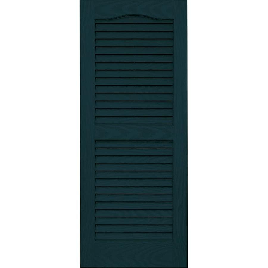 Vantage 2-Pack Indigo Blue Louvered Vinyl Exterior Shutters (Common: 14-in x 35-in; Actual: 13.875-in x 34.6875-in)