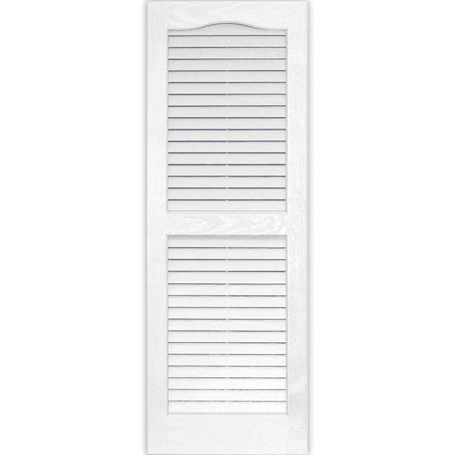 Vantage 2-Pack White Louvered Vinyl Exterior Shutters (Common: 14-in x 39-in; Actual: 13.875-in x 38.6875-in)